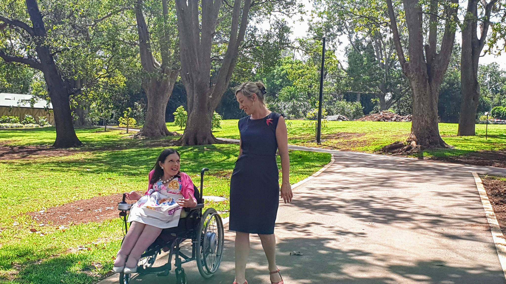 Alyce Nelligan, candidate for Toowoomba Regional Council with Senator Larissa Waters