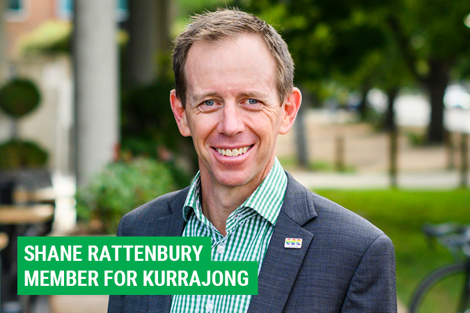 Shane Rattenbury – Member for Kurrajong