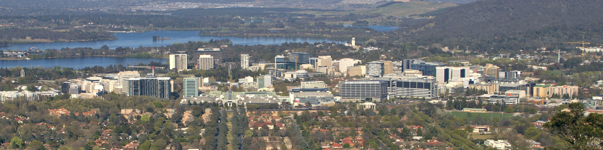 Skyline view of Canberra