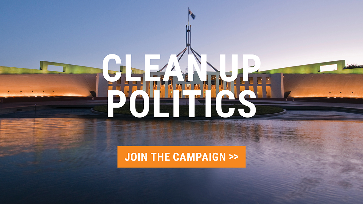 Clean up politics: Join the campaign