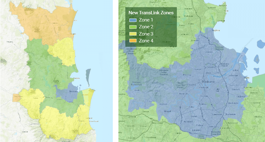 Proposed zone maps for Queensland