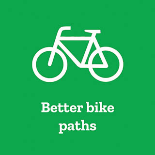 Better bike paths campaign