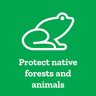 Protect native forests and animals