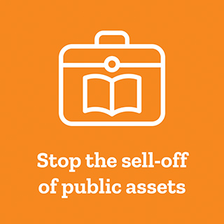 Stop privatisation of assets