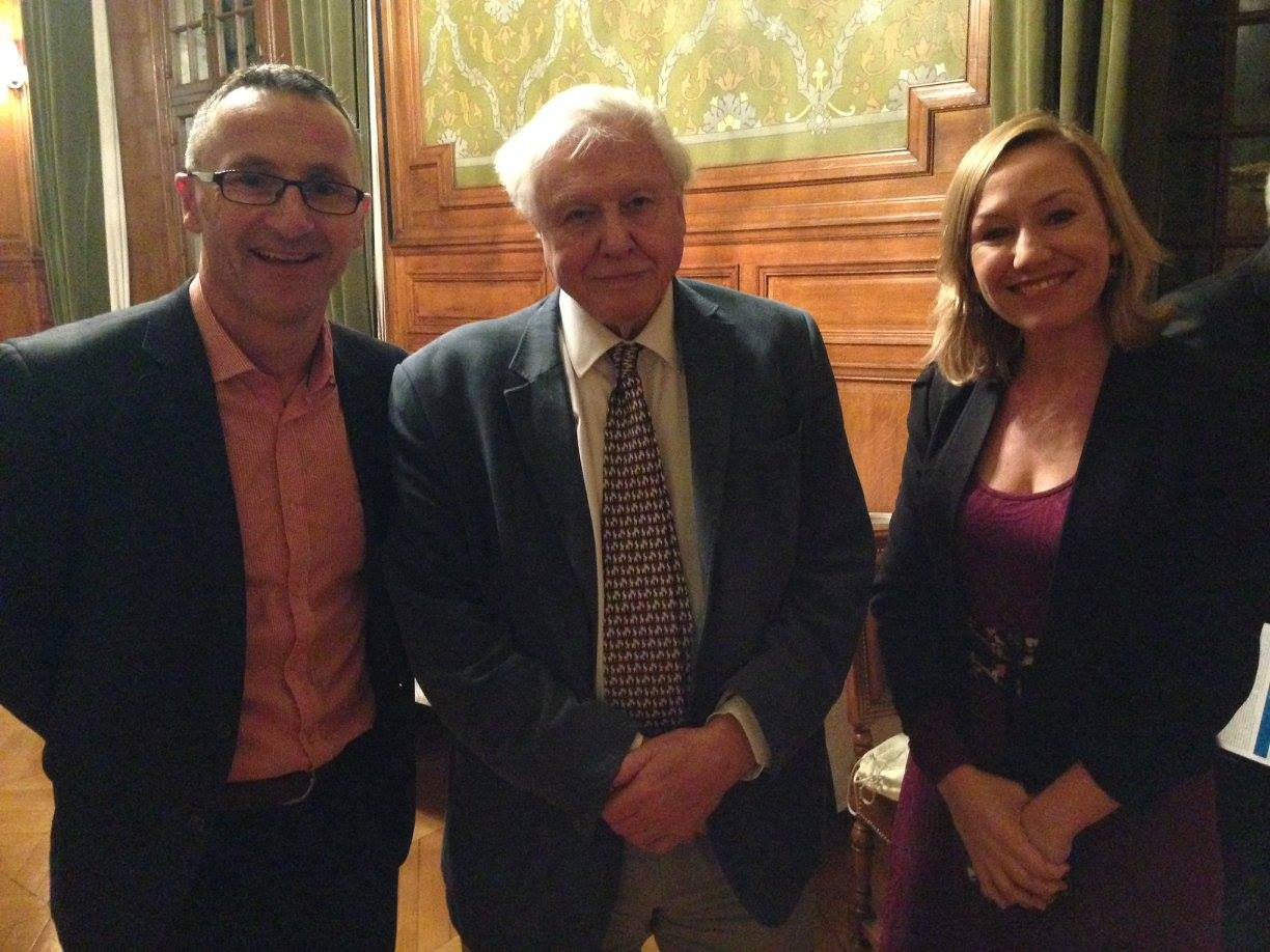 Richard and Larissa with David Attenborough