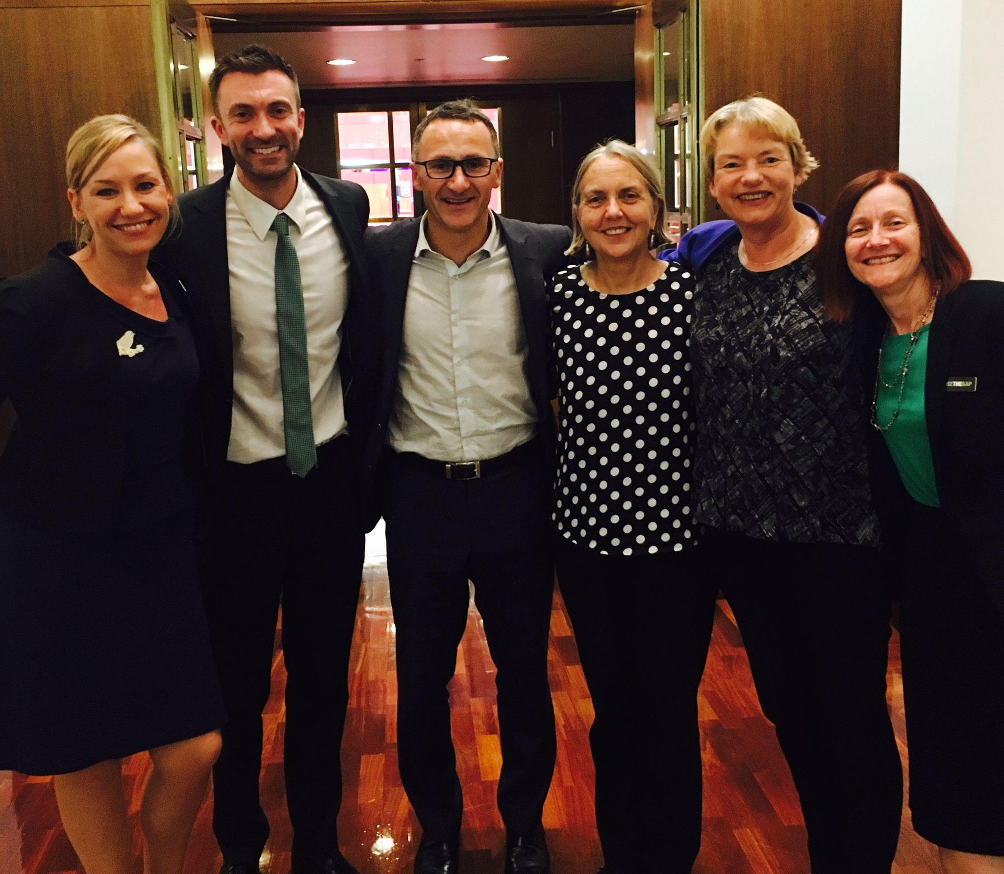 Greens Senators during the OPV Debate