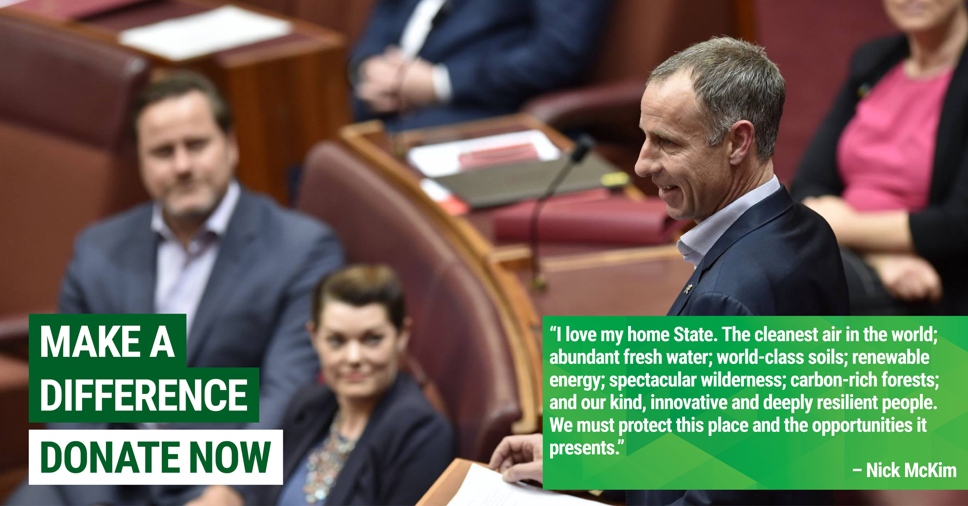Donate Now to the Tasmanian Greens