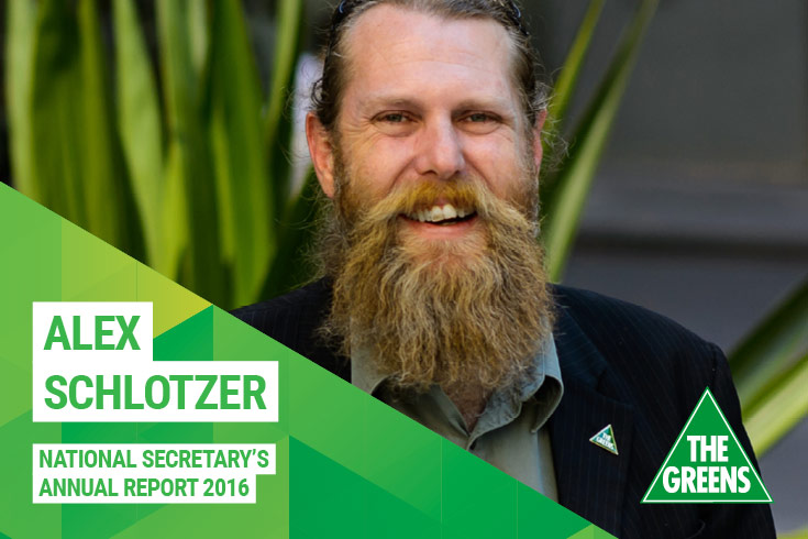 Alex Schlotzer, National Secretary's annual report 2016