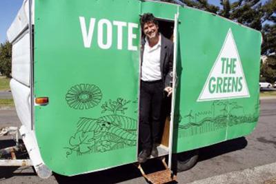 Image of Greens caravan
