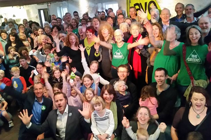 Greens supporters