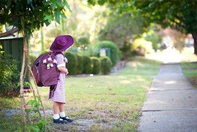 Community Development - Student on footpath