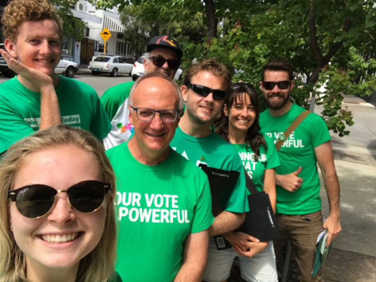 Doorknocking in Fremantle, WA State Election 2017
