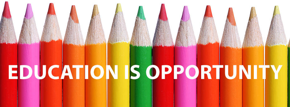 Coloured pencils - Education is opportunity