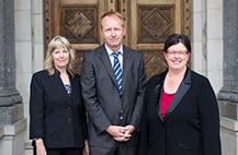 Greg Barber, Sue Pennicuik and Colleen Hartland.