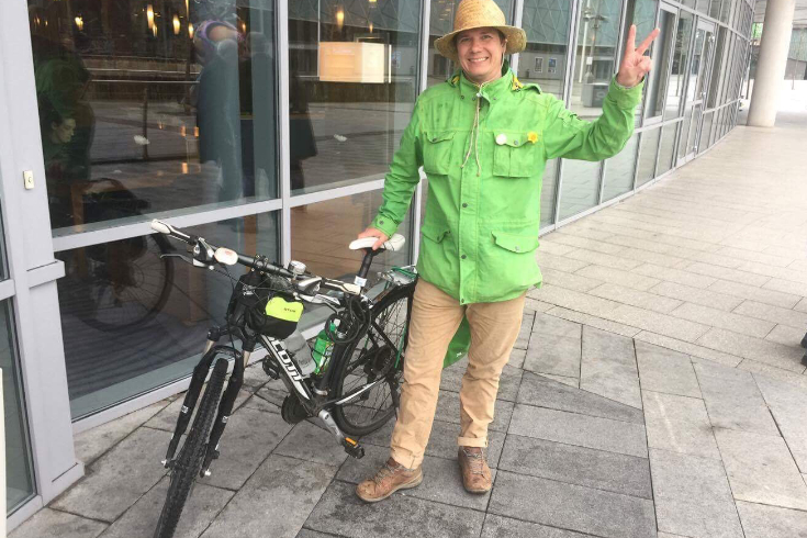 Norwegian Councillor who rode his bicycle to Congress