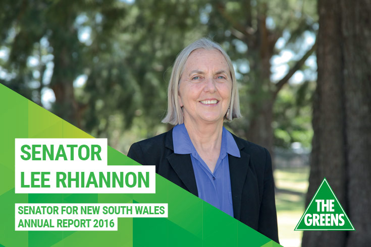 Lee Rhiannon Annual Report 2016