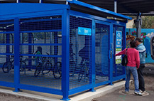 Secure Bike Parking at Train Stations
