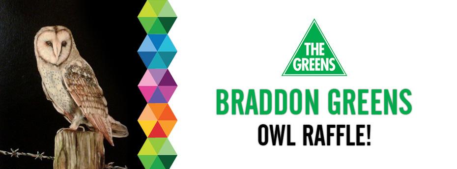 Braddon Greens Owl Raffle