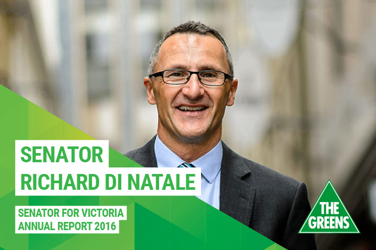 Richard Di Natale Annual Report 2016