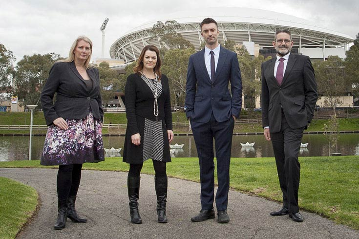 Senators Sarah Hanson-Young and Robert Simms with Tammy Franks, MP and Mark Parnell, MP