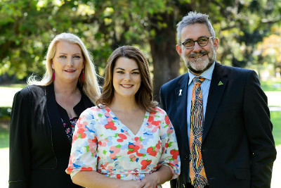 Greens SA MPs - Tammy Franks, Sarah Hanson-Young, Mark Parnell