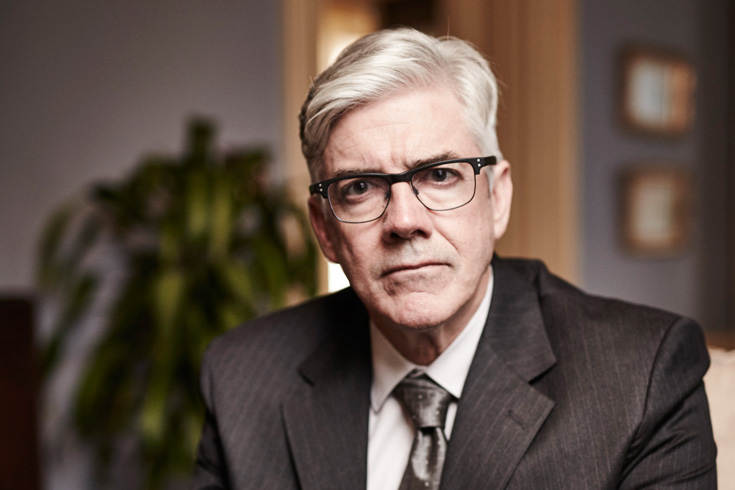 Shaun Micallef as Andrew Dugdale in the Ex-PM