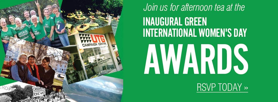 Join us for afternoon tea for the inaugural Greens IWD Awards