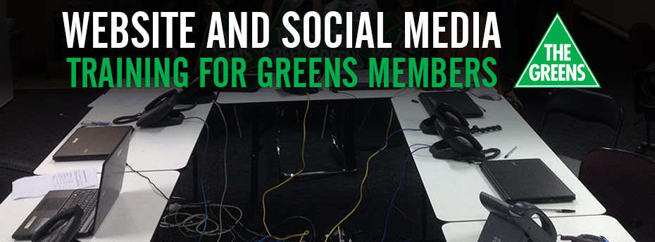 Website and Social Media Training For Greens Members