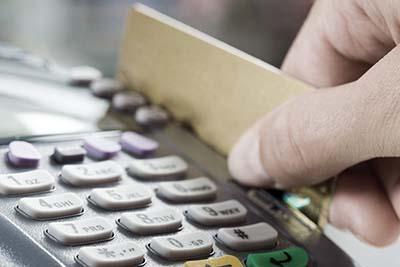 Card going through EFTPOS Machine