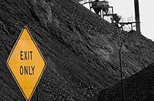 Coal Exit Sign