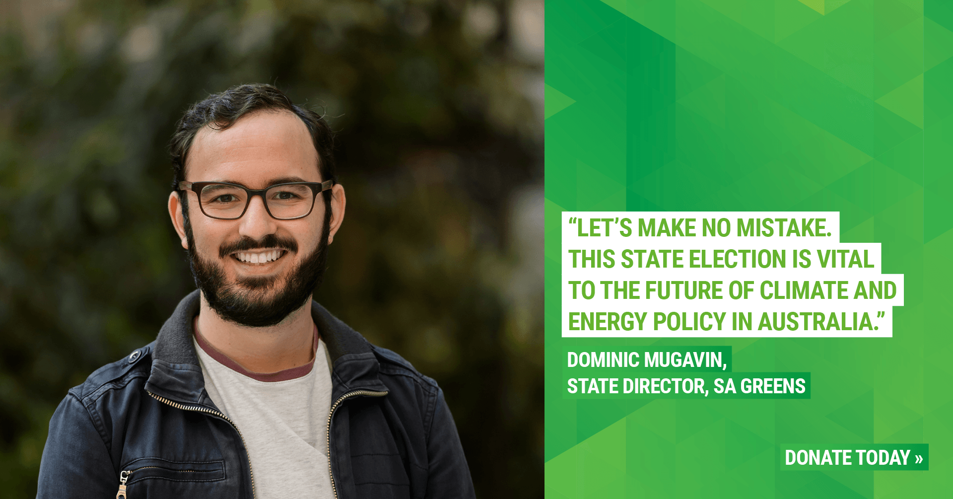 """Let's make no mistake. The SA election is vital to the future of climate change and energy policy in Australia. Donate today"""
