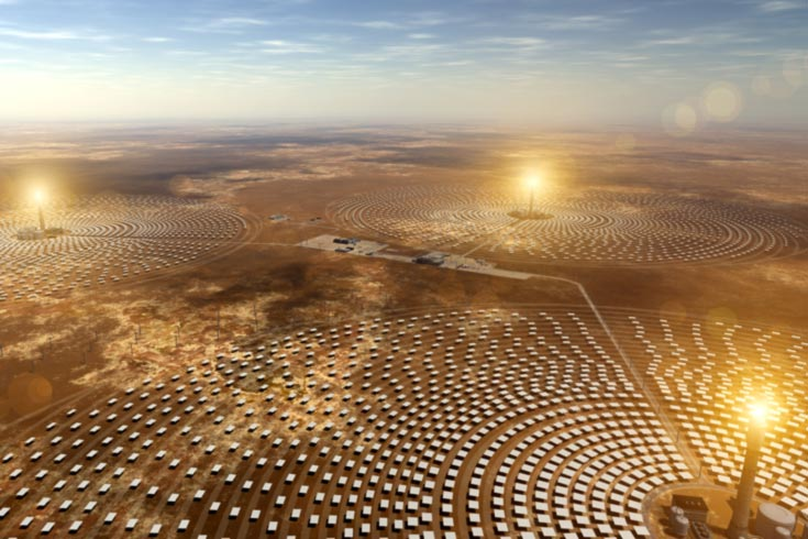 Gemasolar solar farm in Spain