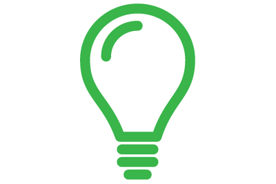 icon: a lightbulb