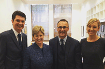 Richard di Natale, Greens Leader with Christine Milne, Larissa Waters and Scott Ludlam