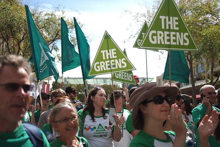 Greens at a rally