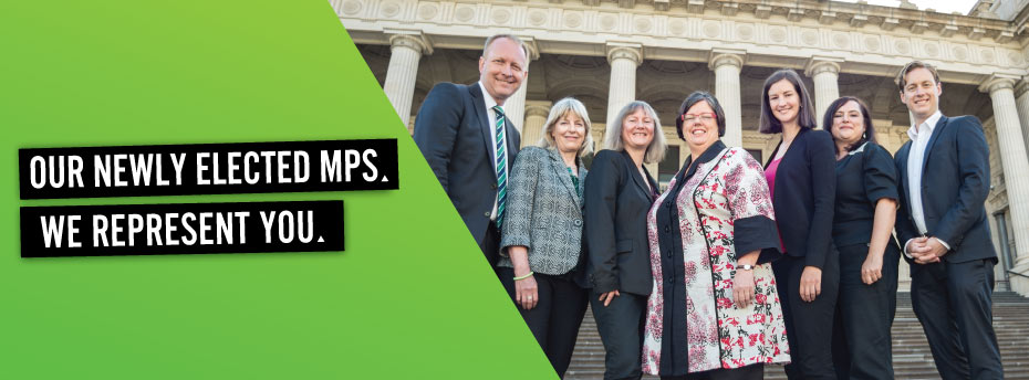 We have seven MPs in the Victorian Parliament.