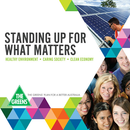 Australian Greens 2013 Election Platform Cover