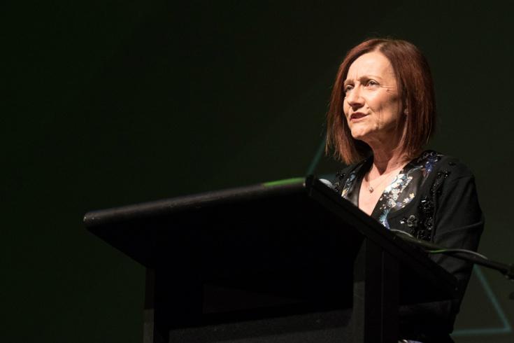 Senator Rachel Siewert speaking at conference