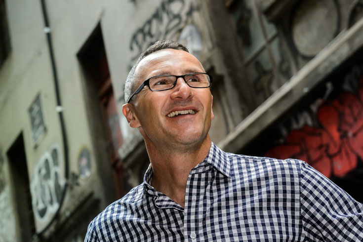 Senator Richard Di Natale looking ahead