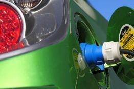 Power socket on an electric car