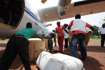 Aid delivery from aircraft
