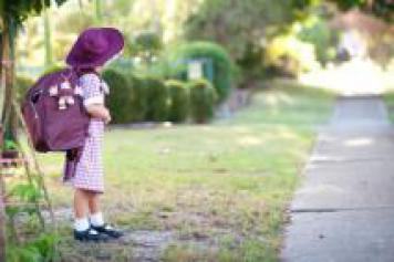 Australian school girl in uniform
