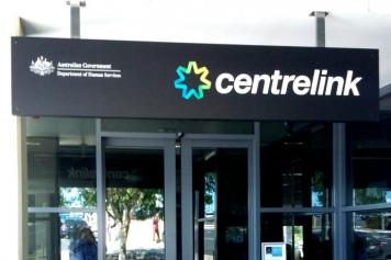 Centrelink office sign