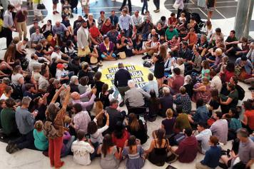 Citizens take over the foyer of Parliament House
