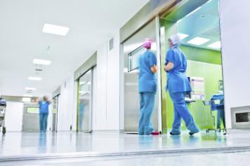 Image of health professionals in a hospital