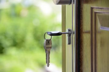 Keys in a door lock