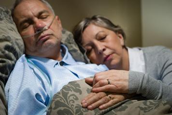 Couple in a hosipital