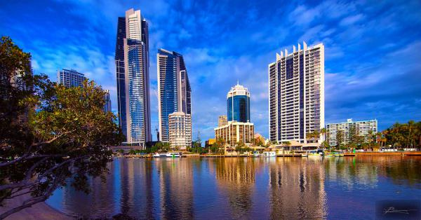 View of Gold Coast City from the lake.