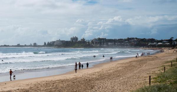 Maroochydore beach, Queensland.
