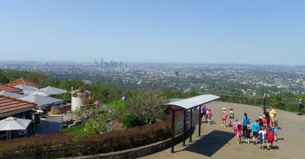 Scenic view of Brisbane from Mt Cootha.